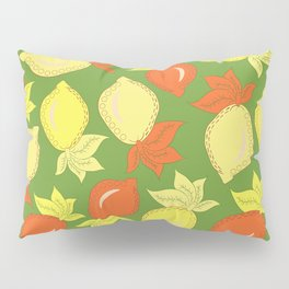 Tumbled Lemons Pattern Pillow Sham