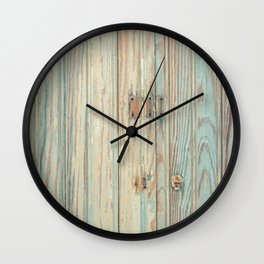 Vintage Bead Board Panels with Chippy Paint Wall Clock