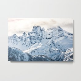 Snow Capped Mountains of BC Canada Metal Print