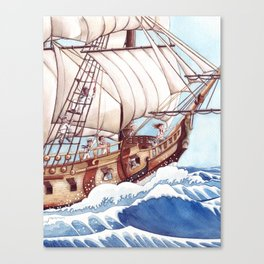 She Sails the High Seas Canvas Print
