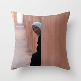 Waiting for a Visitor Throw Pillow