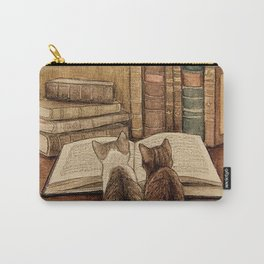 Kittens Reading A Book Carry-All Pouch