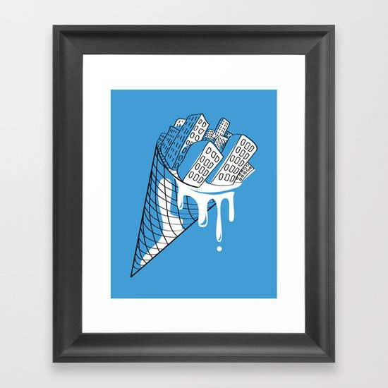 Snowy City Framed Art Print