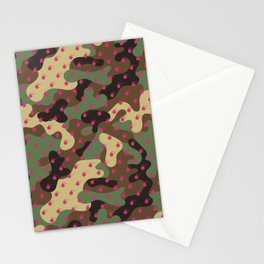 CAMO & HOT PINK BOMB DIGGITYS ALL OVER LARGE Stationery Cards
