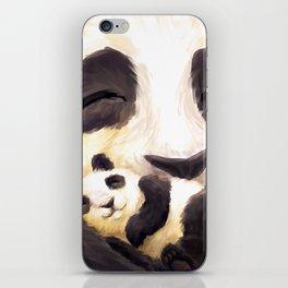 Cuddly panda iPhone Skin