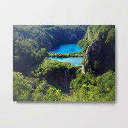 Turquoise Lake Metal Print