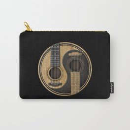 Aged Vintage Acoustic Guitars Yin Yang Carry-All Pouch