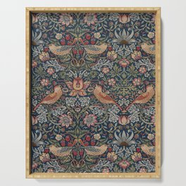 Strawberry Thief by William Morris Serving Tray