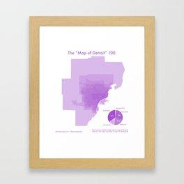 """100 """"Maps of Detroit"""" Framed Art Print"""