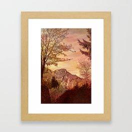 fall in mountains Framed Art Print