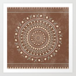 """""""Astral Lullaby"""" in Neutral Brown, Yellow, Green Art Print"""
