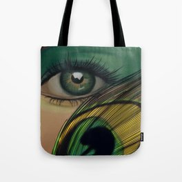 Through The Eye Of A Peacock Tote Bag