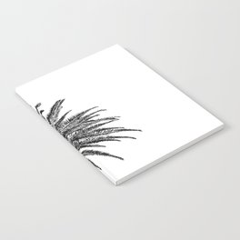 Lush Palm {2 of 2} / Black and White Sky Tree Leaves Art Print Notebook