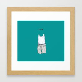 Male Specimen II, blue Framed Art Print