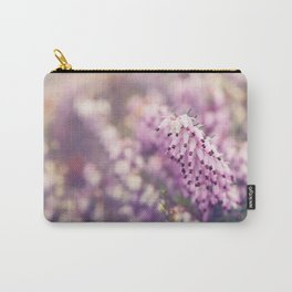 Pink Heather Flower Carry-All Pouch