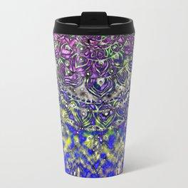Multicolor Mandala Art Travel Mug