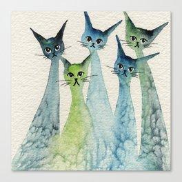 Lakeland Whimsical Cats Canvas Print