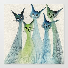 Lakeland Whimsical Cats Canvas Print