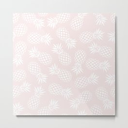 Pineapple pattern on pink 022 Metal Print