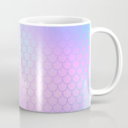 Turquoise Pink Mermaid Tail Abstraction Coffee Mug