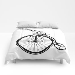 Giraffe Riding A Penny-Farthing Bicycle Comforters
