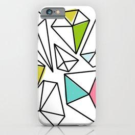 Shine Bright | Colorful Geo Gems iPhone Case