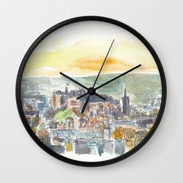 Edinburgh Scotland Cityiew At Dusk Wall Clock