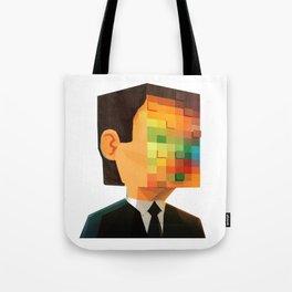 Pixel head Tote Bag