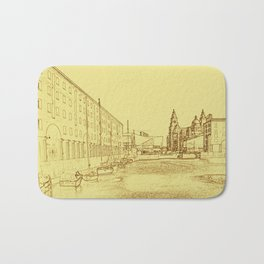 Albert Dock, Liverpool (Digital Art) Bath Mat