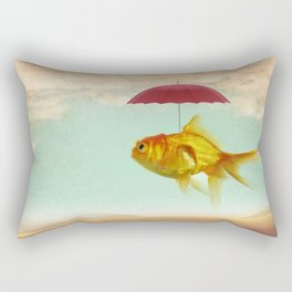 under cover goldfish Rectangular Pillow