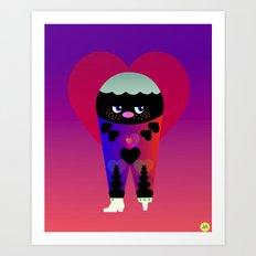 lovely love Art Print