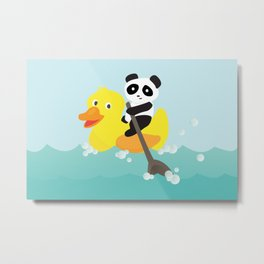 Row, row, row your duck Metal Print