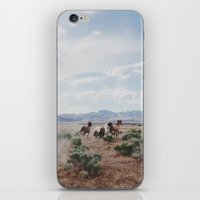 utah iPhone & iPod Skins featuring Running Horses by Kevin Russ