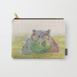 Ink Animals of Africa - Harriet Hippo Carry-All Pouch