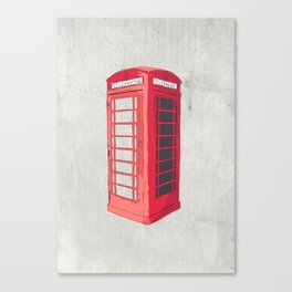 Oxford Phone Booth Canvas Print