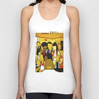 pulp Tank Tops featuring Pulp Fiction by Ale Giorgini