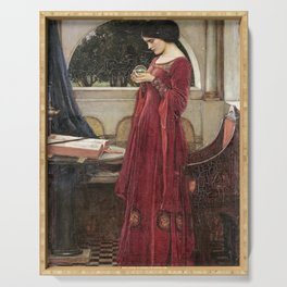 John William Waterhouse - The crystal ball Serving Tray