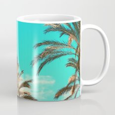 Tropical Palm Trees  - Vintage Turquoise Sky Mug