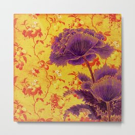floral chinoiserie Metal Print