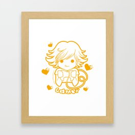 Kawaii Kiddies Cute Gamer Framed Art Print