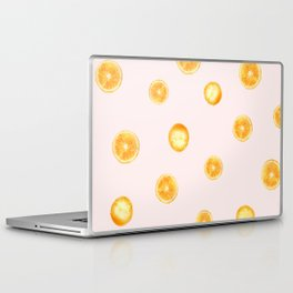 Orange watercolor Laptop & iPad Skin