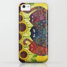 Cats & Sunflowers iPhone 5c Slim Case