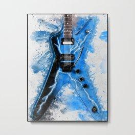 Dimebag Darrell's Guitar Metal Print