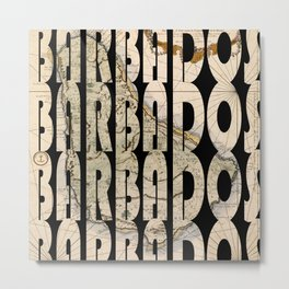 Barbados 1758 Metal Print