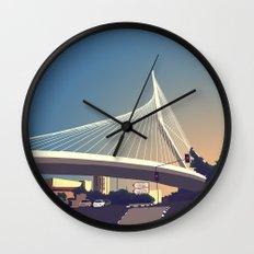Calatrava Bridge Jerusalem Wall Clock