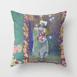 Steampunk Circus Girl Throw Pillow