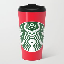 The Red Cup Of Doom Metal Travel Mug