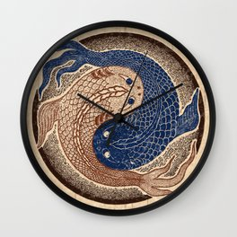 shuiwudáo yin yang mandala Wall Clock