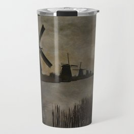 Windmills at Kinderdijk Holland Travel Mug