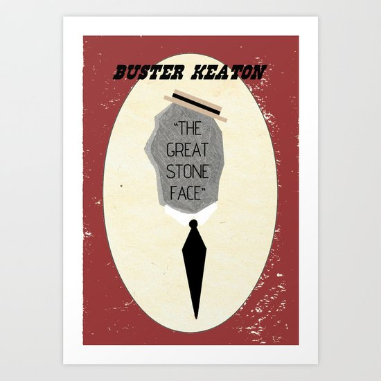 "Buster ""The Great Stone Face"" Keaton Art Print"